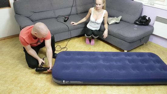 como hinchar un colchón de forma sencilla