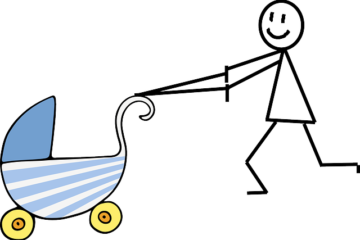 aprender a pasear un bebé